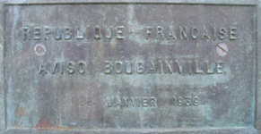 La pointe du Bougainville (Plaque commémorative)